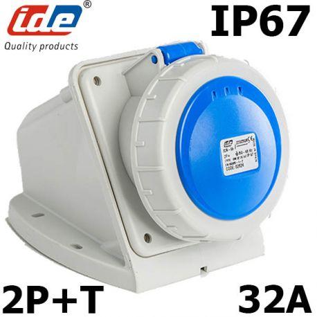 SOCLE + PRISE P17 32A MONOPHASÉ  IP67