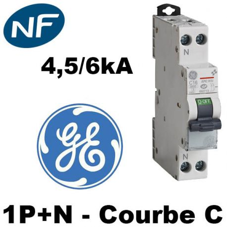 DISJONCTEUR  32A 4.5kA courbe C GENERAL ELECTRIC
