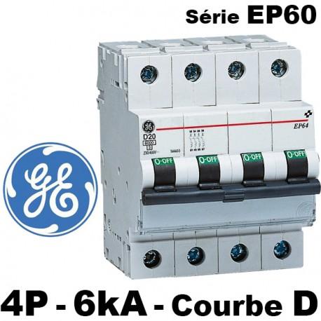 DISJONCTEUR 40A 4 POLES COURBE D  GENERAL ELECTRIC