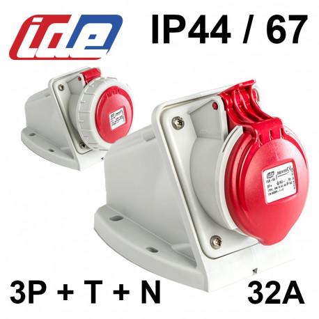 SOCLE + PRISE P17 32A TETRAPOLAIRE  IP67